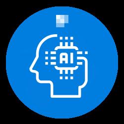 AI in Blue Background